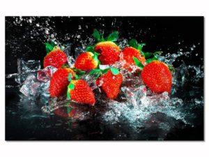 Tableau de cuisine fraises rouges