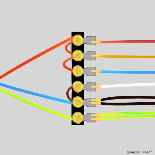 Schéma électrique branchement four triphasé en mono